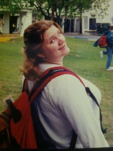 "This is me during the beginning of senior year. While I didn't weight myself daily, I would guess that I'm around 195-200 lbs in this photo. On a 5'2"" frame, I was pushing a size 20/22."