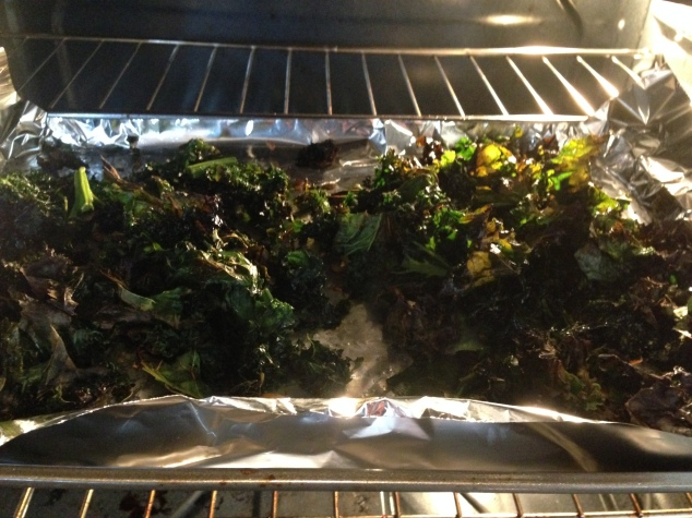 This is only half of the batch! Seriously, making your own kale chips is far more cost effective.