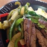 Steak fajitas with no tortilla!