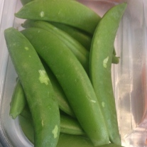I love snap peas.